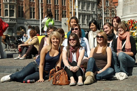 6,5 mlj tourists in Bruges in 2017 - Picture by Marc Willems
